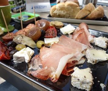 Frühstück im Seecafé in Podersdorf