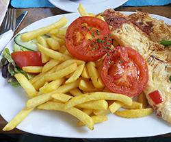 Deftiges Frühstück im Fly's in Wien
