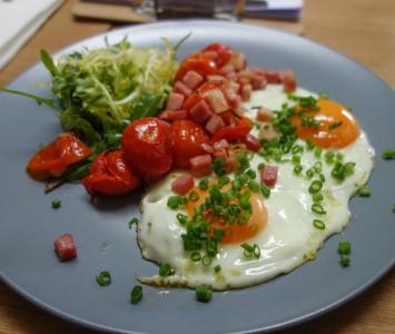 Frühstück in Die Au in Wien