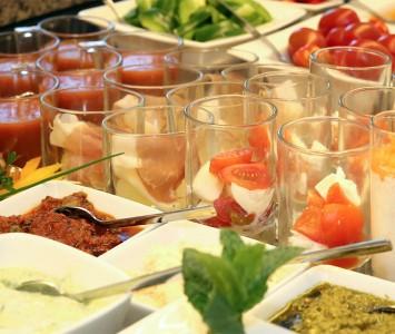 Frühstück im Hotel Rosenvilla in Salzburg