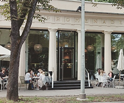 Frühstück im Café Promenade in Graz