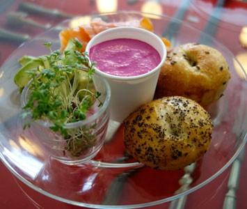 Frühstück in der Hidden Kitchen Park in Wien