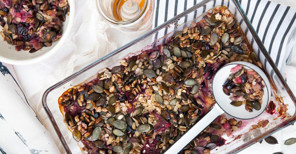 Beeren-Apfel-Frühstückscrumble von Foodtastic
