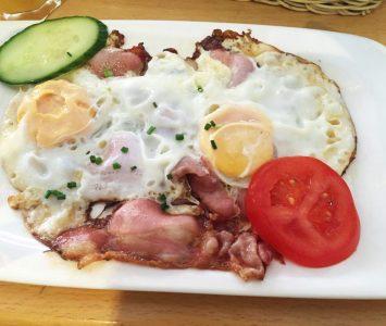 POS - Frühstücken in Wien - Ham und Eggs