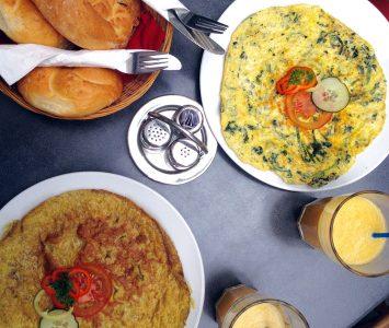 Frühstück im Café Trailer im Graz