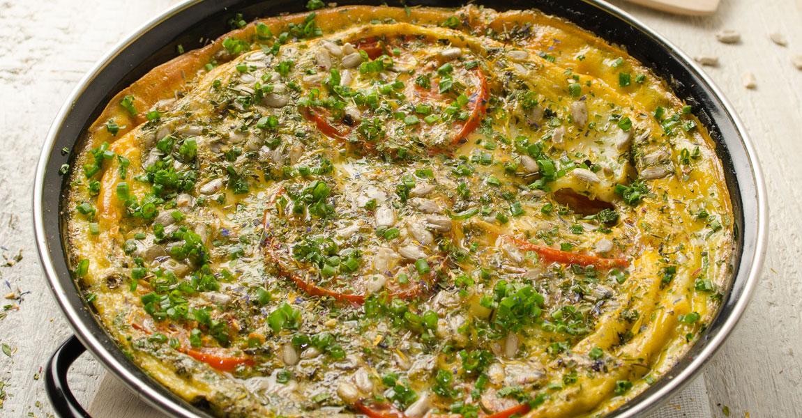 Omelette mit Sprossen von Sonnentor